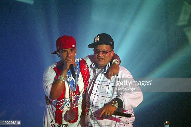 Daddy Yankee and Hector 'The Father' during Daddy Yankee in Concert in San Juan June 28 2006 in San Juan Puerto Rico