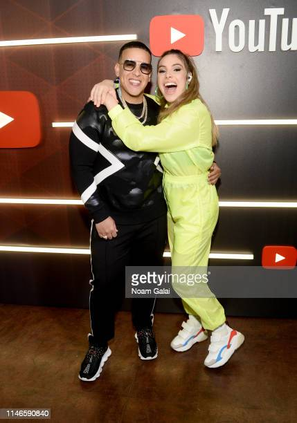Daddy Yankee and Lele Pons at YouTube Brandcast 2019 at Radio City Music Hall on May 02 2019 in New York City