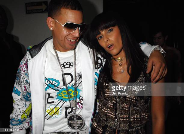 Daddy Yankee and Nelly Furtado during MTV Video Music Awards Latin America 2006 Audience and Backstage at Palacio de los Deportes in Mexico City...