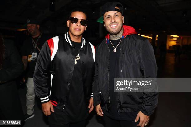 Daddy Yankee and Nicky Jam attend Romeo Santos In Concert at Madison Square Garden on February 15 2018 in New York City