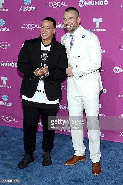 Daddy Yankee and Rafael Amaya arrives at Telemundo's 'Premios Tu Mundo Awards' at American Airlines Arena on August 20 2015 in Miami Florida