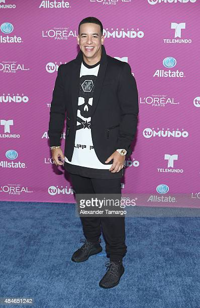 Daddy Yankee arrives at Telemundo's 'Premios Tu Mundo Awards' at American Airlines Arena on August 20 2015 in Miami Florida