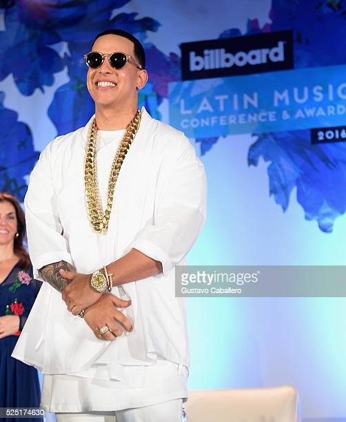 Daddy Yankee attends the Billboard Latin Conference 2016 at Ritz Carlton South Beach on April 27 2016 in Miami Beach Florida
