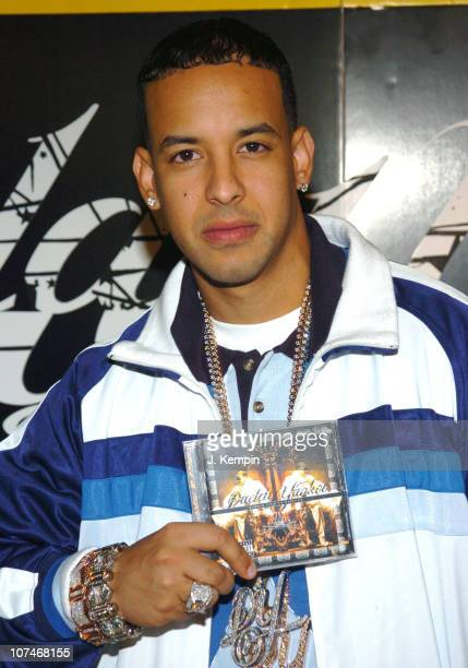 Daddy Yankee during Daddy Yankee Promotes His Album Barrio Fino en Directo at Tower Records in New York City December 19 2005 at Tower Records...