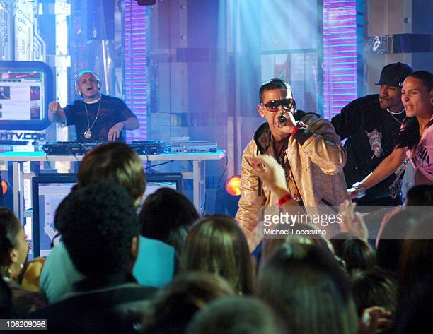 Daddy Yankee during Jordin Sparks Blake Lewis and Daddy Yankee Visit MTVs' TRL May 30 2007 at MTV Studios in New York City New York United States