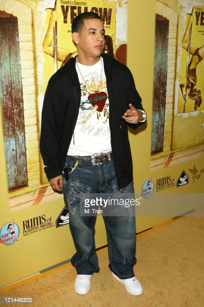 Daddy Yankee during 'Yellow' Los Angeles Premiere Arrivals at Landmark Theater in Los Angeles California United States