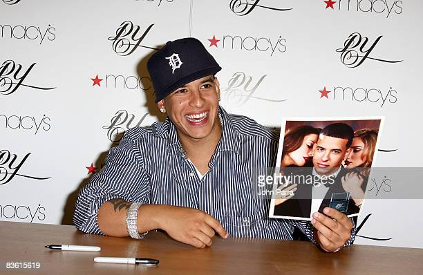Daddy Yankee launches a new fragrance at Macys At Miami International Mall on November 8 2008 in Miami Florida