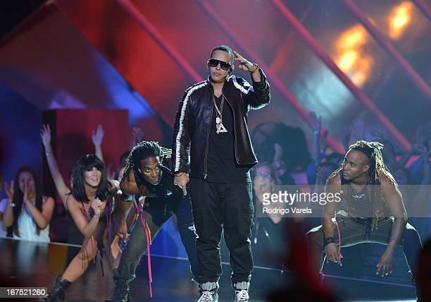 Daddy Yankee performs at Billboard Latin Music Awards 2013 at Bank United Center on April 25 2013 in Miami Florida