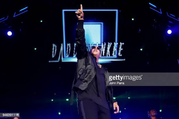 Daddy Yankee performs at Miami Bash 2018 at American Airlines Arena on April 14 2018 in Miami Florida