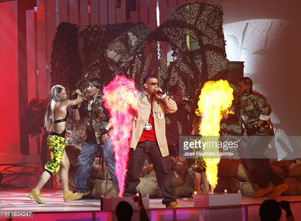 Daddy Yankee performs 'Machucando' and 'Rompe' during 2006 Billboard Latin Music Conference and Awards Show at Seminole Hard Rock Hotel and Casino in...