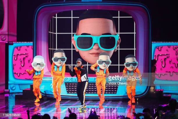 Daddy Yankee performs on stage during the Kids Choice Awards Mexico 2019 at Auditorio Nacional on August 17 2019 in Mexico City Mexico