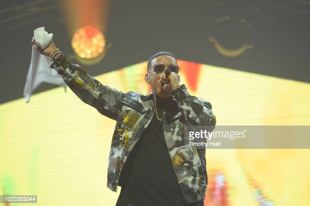 Daddy Yankee performs onstage as Spotify Kicks Off ¡Viva Latino Live Concert Series in Chicago with Bad Bunny Becky G Jowell Randy and Natti Natasha...