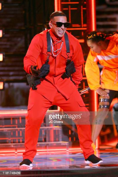 Daddy Yankee performs onstage during the 2019 Latin American Music Awards at Dolby Theatre on October 17 2019 in Hollywood California