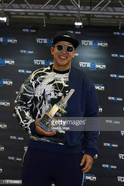 Daddy Yankee receives the Humanitarian Award as part of 2019 Premios Tu Musica Urbano at Coliseo Jose M Agrelot on March 21 2019 in San Juan Puerto...