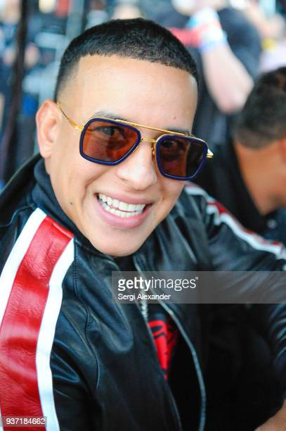 Daddy Yankee seen backstage at Ultra Music Festival at Bayfront Park on March 23 2018 in Miami Florida