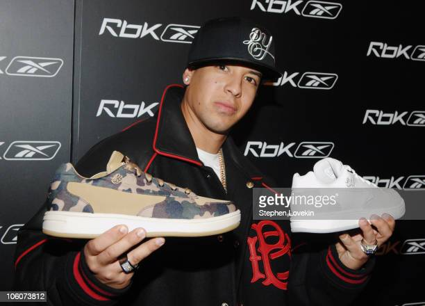 Daddy Yankee with the new Daddy Yankee Rbk sneakers