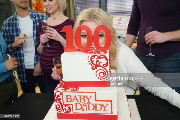 DADDY 'Daddy's Girl' Baby Daddy celebrates the filming of its 100th episode with cake and congratulatory toasts during its live audience taping...