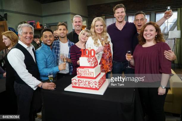 DADDY Daddy's Girl Baby Daddy celebrates the filming of its 100th episode with cake and congratulatory toasts during its live audience taping MICHAEL...