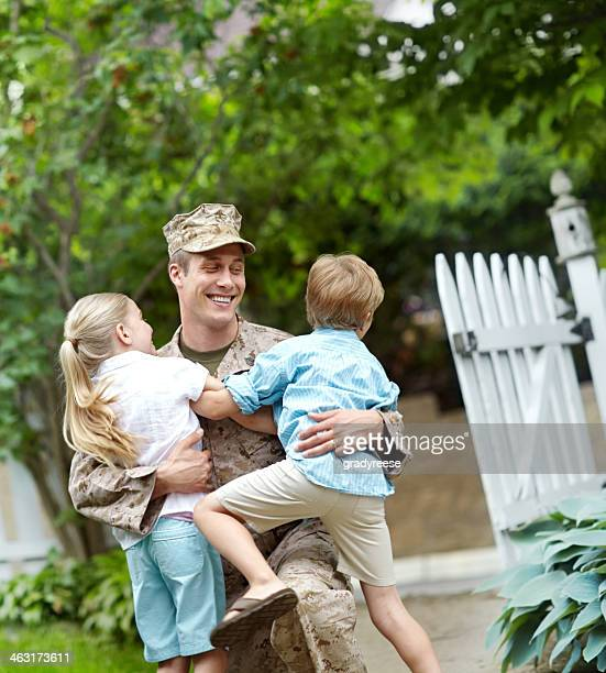 daddy's home! - marines military stock photos and pictures