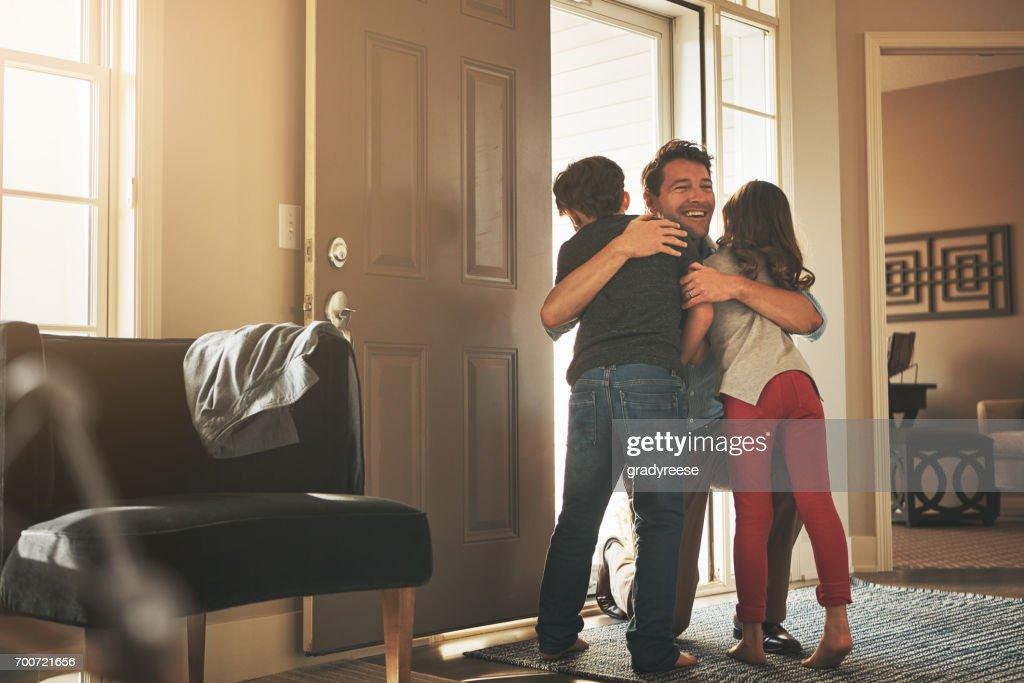 Daddy's zu Hause! : Stock-Foto