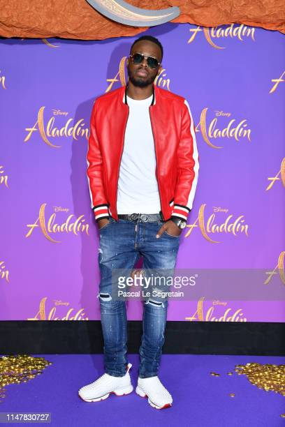 Dadju attends the Aladdin gala screening at Le Grand Rex on May 08 2019 in Paris France
