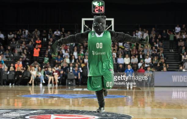 Dado Darussafaka Istanbul mascot in action during the 7DAYS EuroCup Basketball Finals game two between Darussafaka Istanbul v Lokomotiv Kuban...