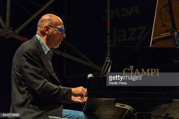 Dado Moroni during the 'Kind of Bill' project performance in Rome. The jazz musicians Dado Moroni, Eddie Gomez and Joe La Barbera performed live at...
