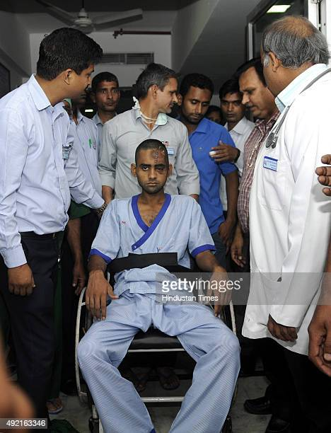 Dadri lynching victim Akhlaq's son Danish being shifted to Army Research and Referral Hospital in Dhaula Kuan Delhi from Kailash Hospital Noida on...