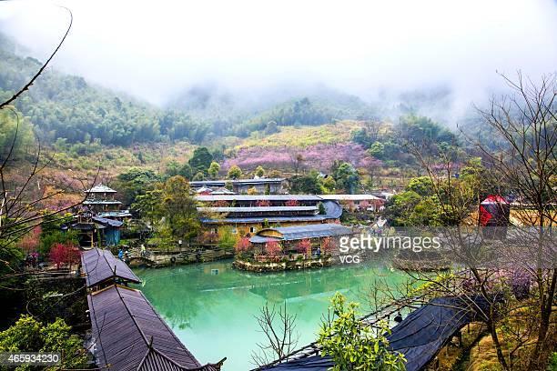 Daduan mountain ecology village is seen on March 11 2015 in Fuzhou Fujian province of China The picturesque view of Daduan mountain ecology village...