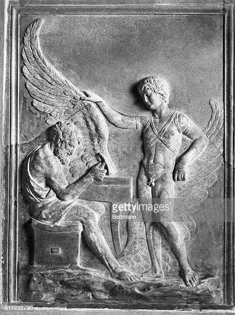 Daedalus and Icarus Roman relief