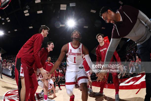 Daejon Davis before the game between University of Oregon and Stanford at Maples Pavilion on February 01, 2020 in Stanford, California.