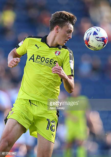Dael Fry of Rotherham United during the Sky Bet Championship match between Blackburn Rovers and Rotherham United at Ewood Park on September 17 2016...