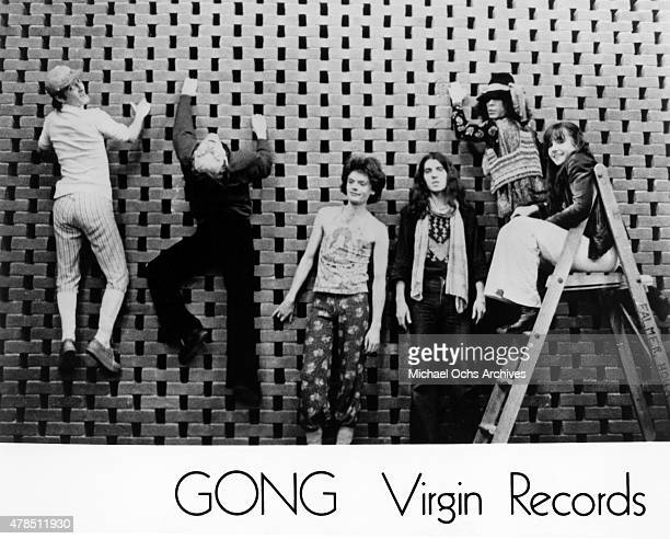 Daevid Allen and the rest of the rock band Gong pose for a portrait in circa 1974