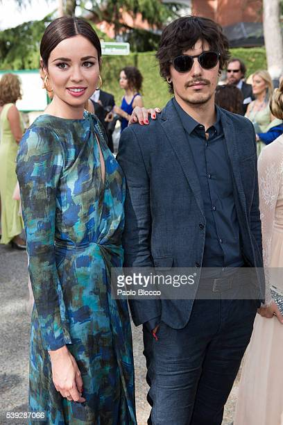 Dafne Fernandez and Mario Chavarria attend the wedding ceremony of Sara Verdasco and Juan Carmona on June 10 2016 in Madrid Spain