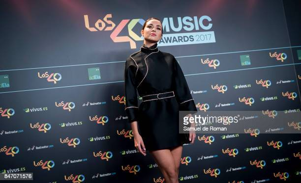 Dafne Fernandez attends 40 Principales Awards candidates dinner 2017 on September 14 2017 in Madrid Spain