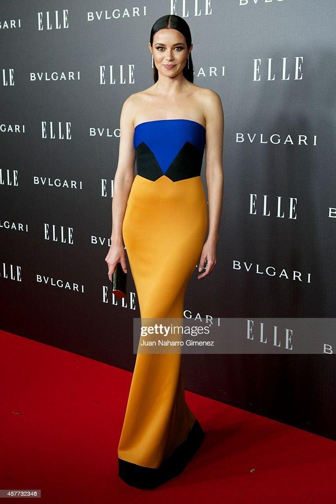 Dafne Fernandez attends 'Elle Style Awards 2014' photocall at Italian Embassy on October 23, 2014 in Madrid, Spain.