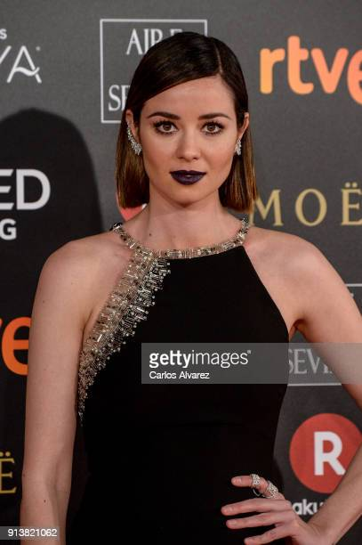 Dafne Fernandez attends Goya Cinema Awards 2018 at Madrid Marriott Auditorium on February 3 2018 in Madrid Spain