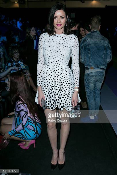 Dafne Fernandez attends the front row of Maria Escote show during the MercedesBenz Madrid Fashion Week Autumn/Winter 2016/2017 at Ifema on February...