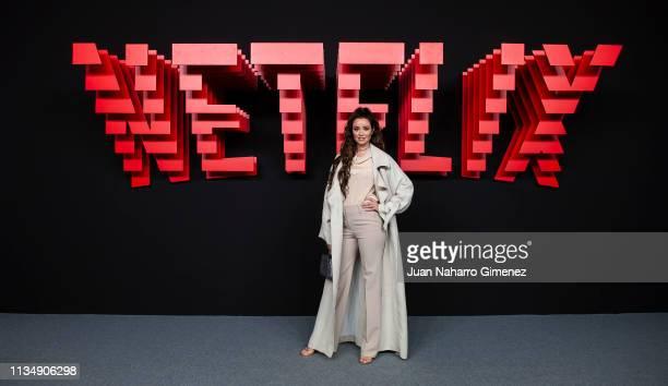 Dafne Fernandez attends the red carpet during the Netflix presentation party at the Invernadero del Palacio de Cristal de la Arganzuela on April 4...