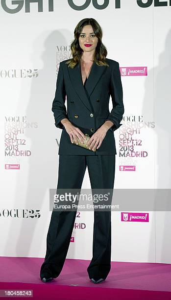 Dafne Fernandez attends Vogue Fashion Night Out Madrid 2013 on September 12 2013 in Madrid Spain