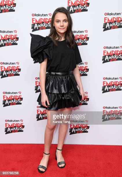 Dafne Keen attends the Rakuten TV EMPIRE Awards 2018 at The Roundhouse on March 18 2018 in London England