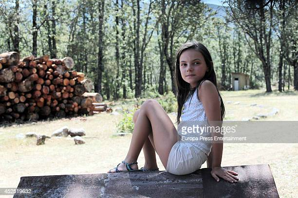 Dafne Keen attends 'The Refugees' Tv serie set filming on July 21 2014 in Madrid Spain