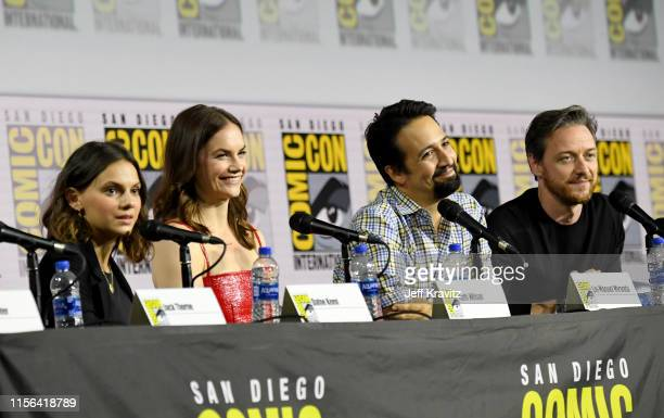 """Dafne Keen, Ruth Wilson, Lin-Manuel Miranda and James McAvoy at """"His Dark Materials"""" Comic Con Autograph Signing 2019 at the 50th San Diego Comic Con..."""