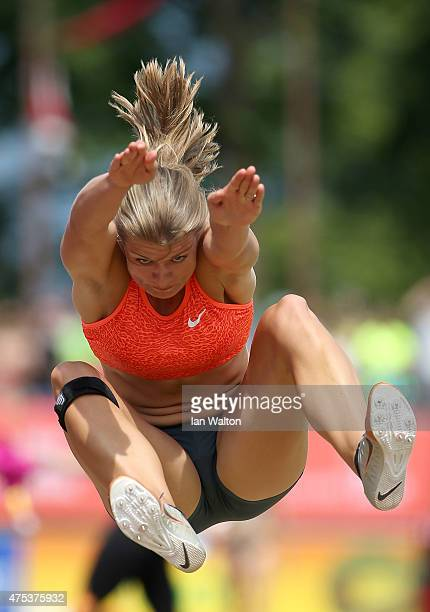 Dafne Schippers of the Netherlands competes in the long jump during the women's heptathlon during the Hypomeeting Gotzis 2015 at the Mosle Stadiom on...