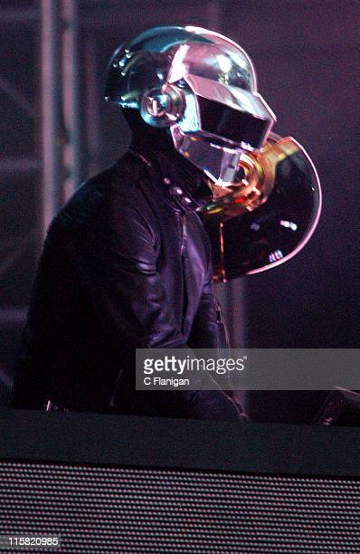 Daft Punk during 2006 Coachella Valley Music and Arts Festival Day One at Empire Polo Field in Indio California United States