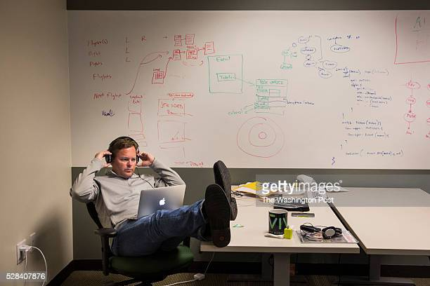Dag Kittlaus CEO and cofounder of Viv Labs works at his desk in San Jose California on May 3 2016 Kittlaus and his team previously built Siri which...