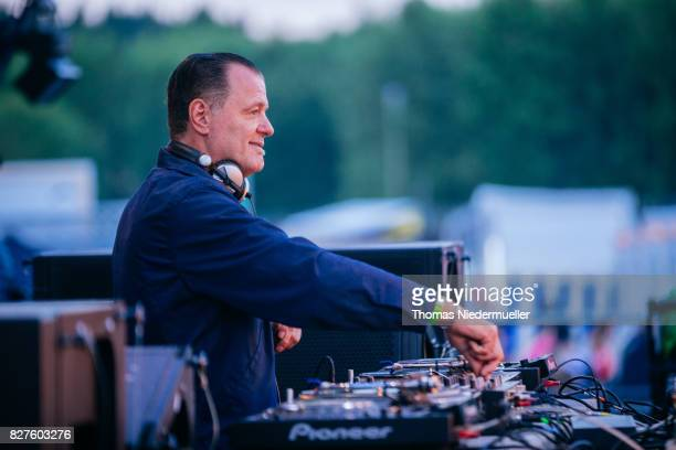 Dag Lerner aka DJ Dag performs at the 'Nature One' massive rave held at the former US rocket base Pydna on August 6 2017 in Kastellaun Germany