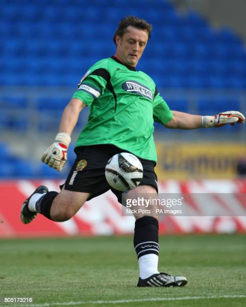 Dagenham and Redbridge goalkeeper Tony Roberts during the Carling Cup First Round match at the Cardiff City Stadium, Cardiff.