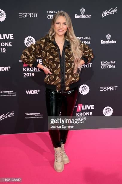 Dagi Bee arrives for the 1Live Krone radio award at Jahrhunderthalle on December 05 2019 in Bochum Germany