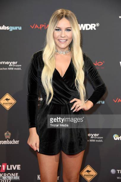 Dagi Bee attends the 1Live Krone radio award at Jahrhunderthalle on December 7 2017 in Bochum Germany
